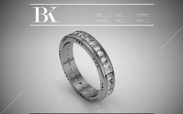 Trang web trang sức của BK được thiết kế theo phong cách tối giản nhưng không kém phần tinh tế