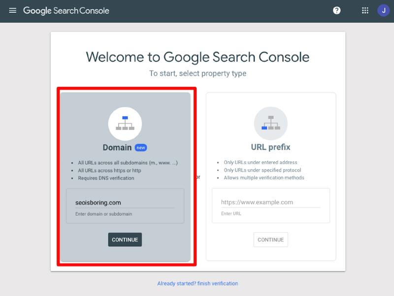Đăng nhập tài khoản Google Search Console