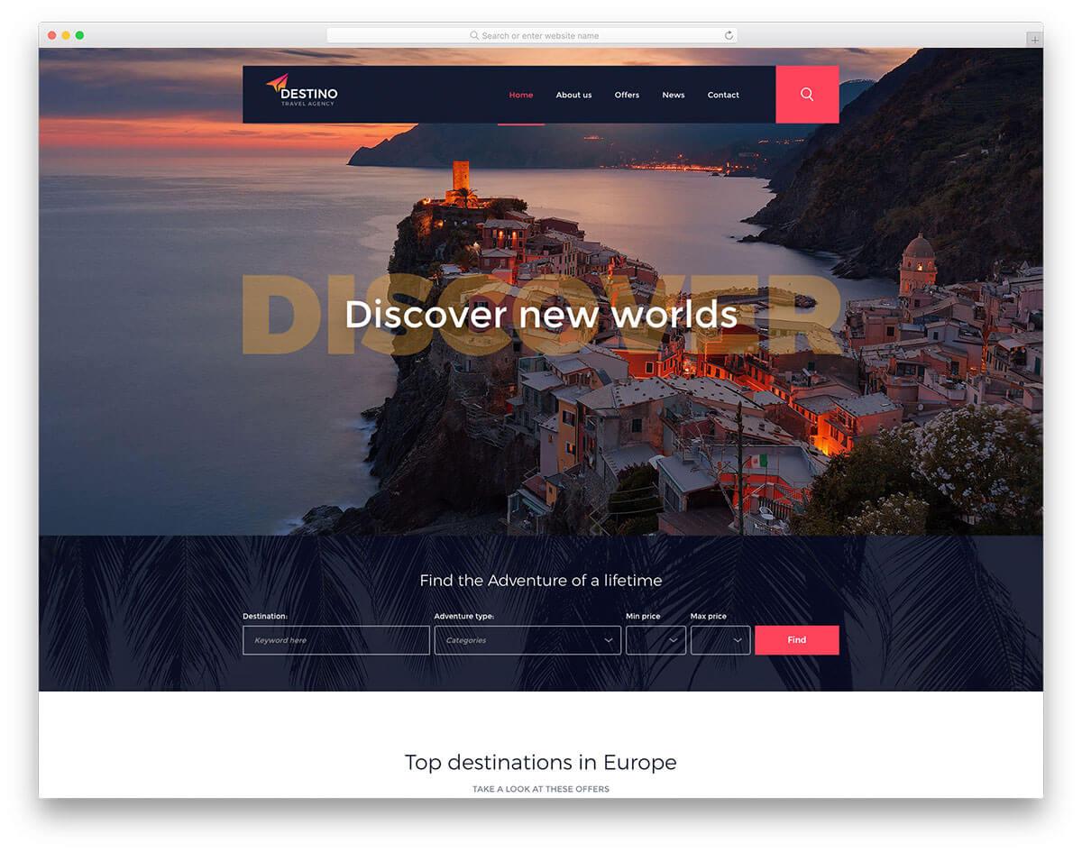 Website du lịch năm 2020 hầu như đều phải đáp ứng các tiêu chí trực quan sinh động và cực kỳ bắt mắt