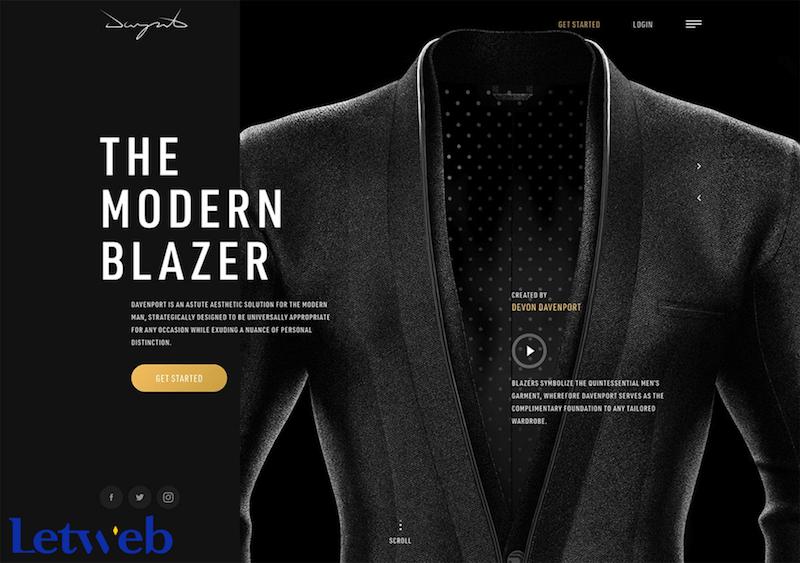 Bạn có thể chọn cách xây dựng website với 2 tông màu đen - trắng