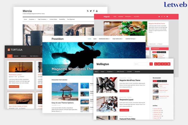 Bạn có thể sử dụng theme miễn phí trên WordPress