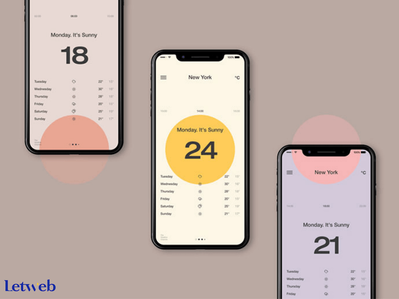 Màu sắc và kiểu chữ lấy cảm hứng từ Vintage - xu hướng thiết kế website mobile 2020