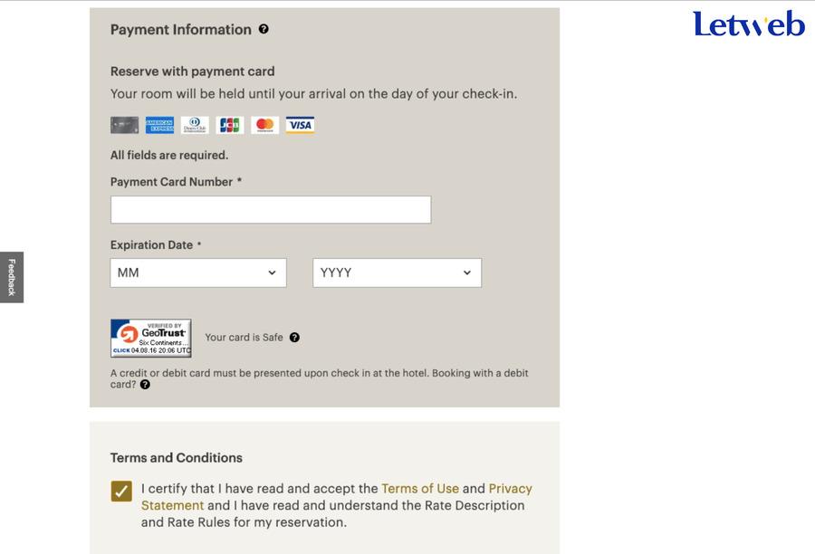 Hỗ trợ thanh toán trực tiếp là một tính năng cần có khi thiết kế web cao cấp cho khách sạn
