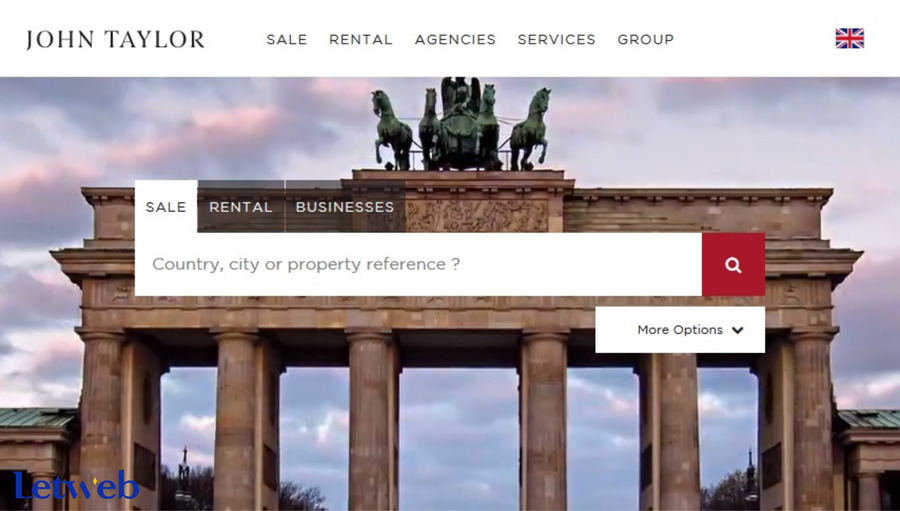 JOHN TAYLOR xứng đáng là một trong những mẫu thiết kế web bất động sản dẫn đầu xu hướng hiện nay